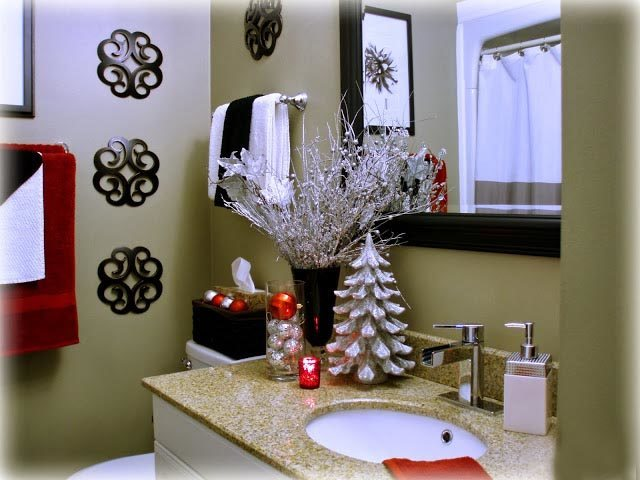 Decorar Baño Navidad:Christmas Holiday Bathroom Decor